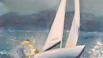 Aquarelle Eliane Giraudel, Le grain arrive