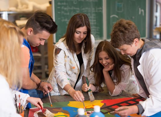Cours arts plastiques adolescents, Atelier Aquadelia