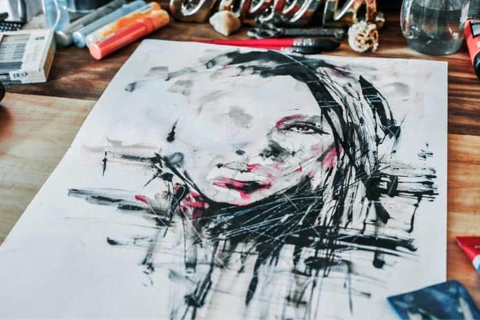 Dessin et encre, cours arts plastiques adultes, Atelier Aquadelia
